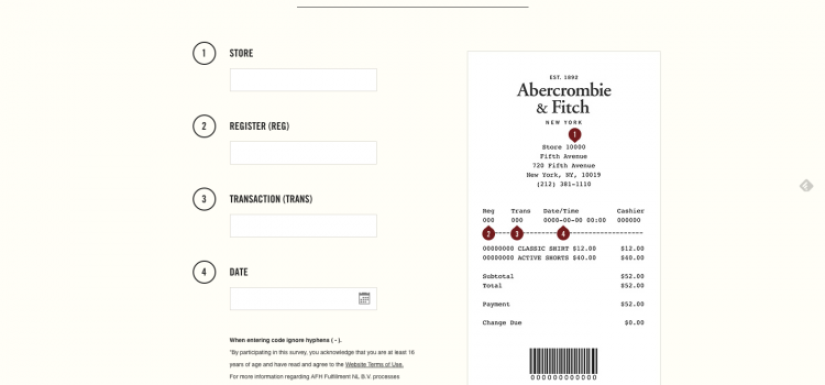 www.tellanf.com – Take Abercrombie & Fitch Customer Survey and Get $10 Coupon
