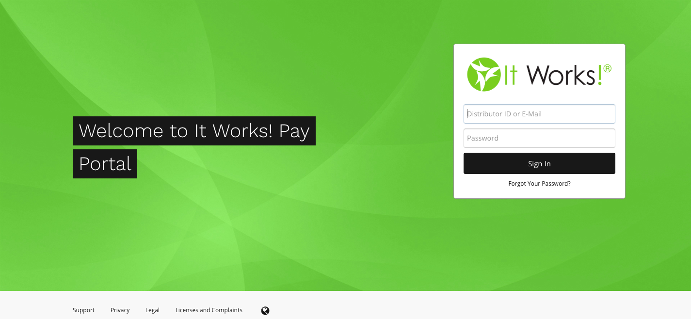 It Works Pay Portal Welcome