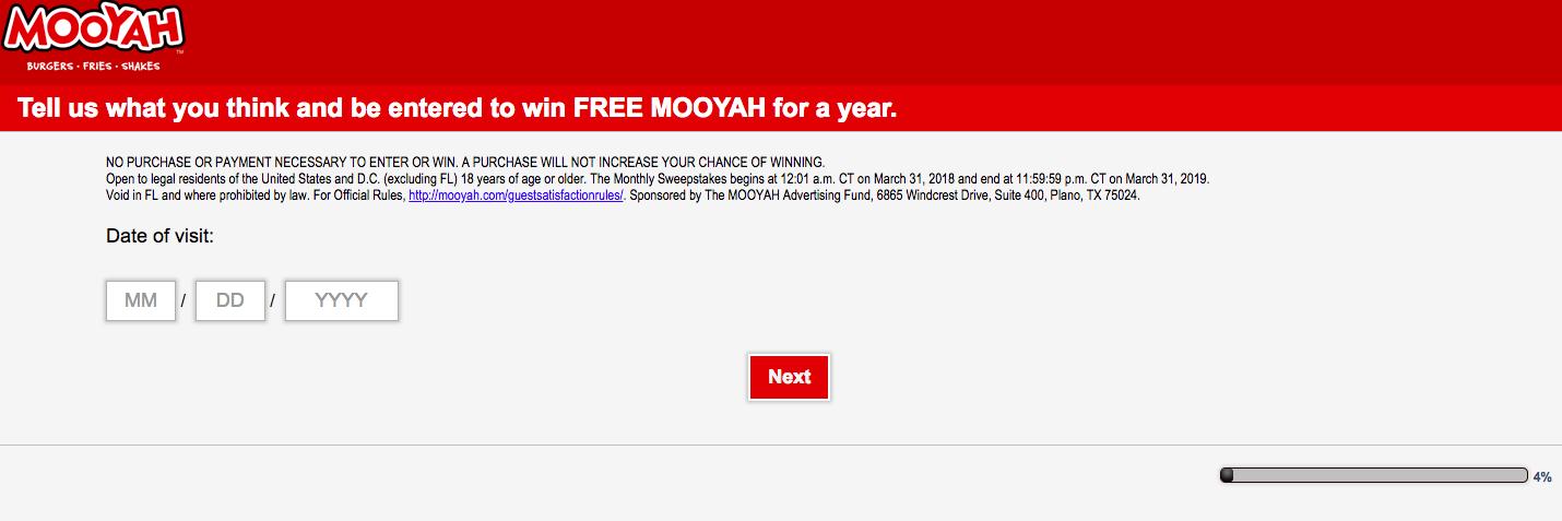 MOOYAH Guest Satisfaction Survey