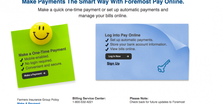 www.foremostpayonline.com – Log into Pay Your Foremost Insurance Bill
