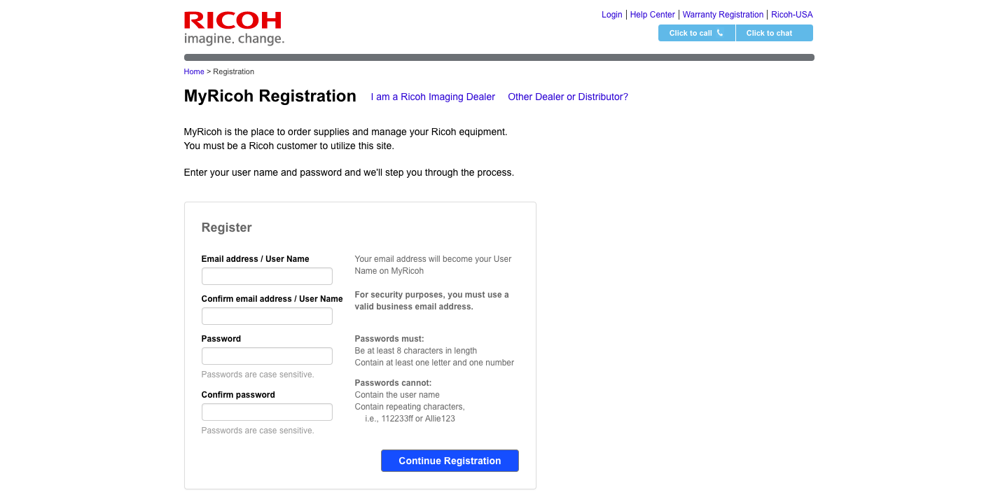 www myricoh com - Log in to My Ricoh Resource Portal -