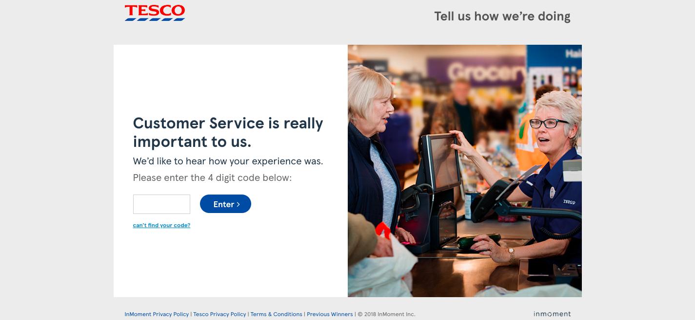 Tesco Customer Satisfaction Survey Tesco Survey Tesco Feedback Tesco Feedback Survey