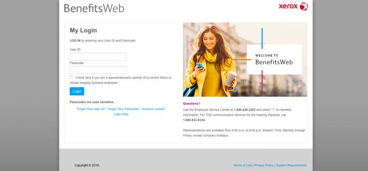 www.xeroxbenefitsweb.com – Xerox BenefitsWeb Employee Login
