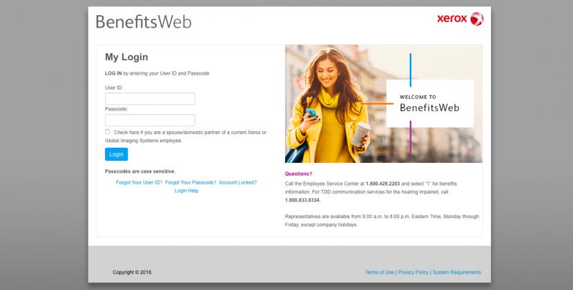 Xerox BenefitsWeb