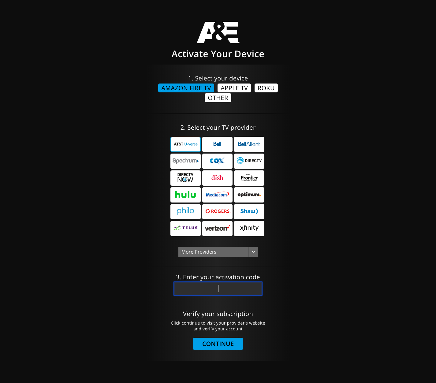 www aetv com activate