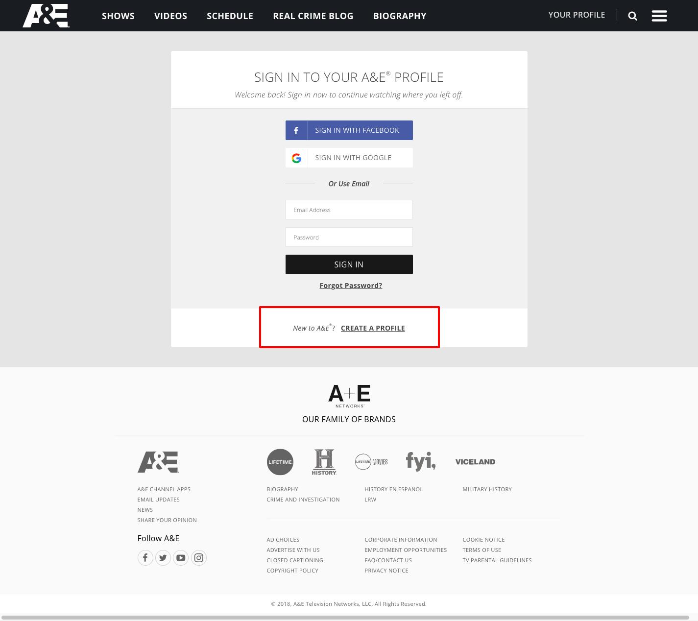 https www aetv com profile activate