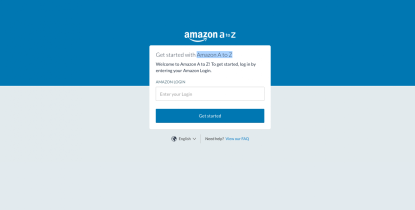 Amazon A to Z Login