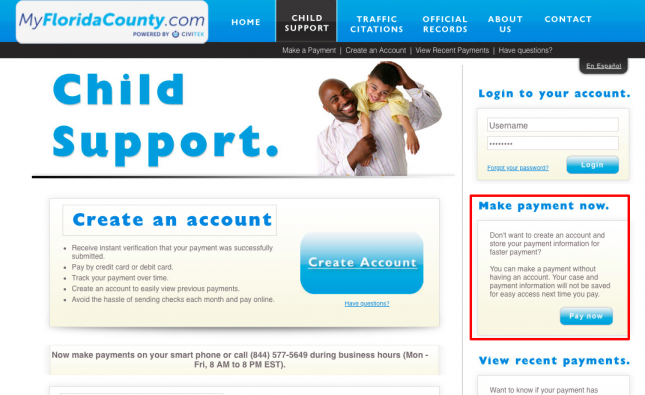 Child Support Home