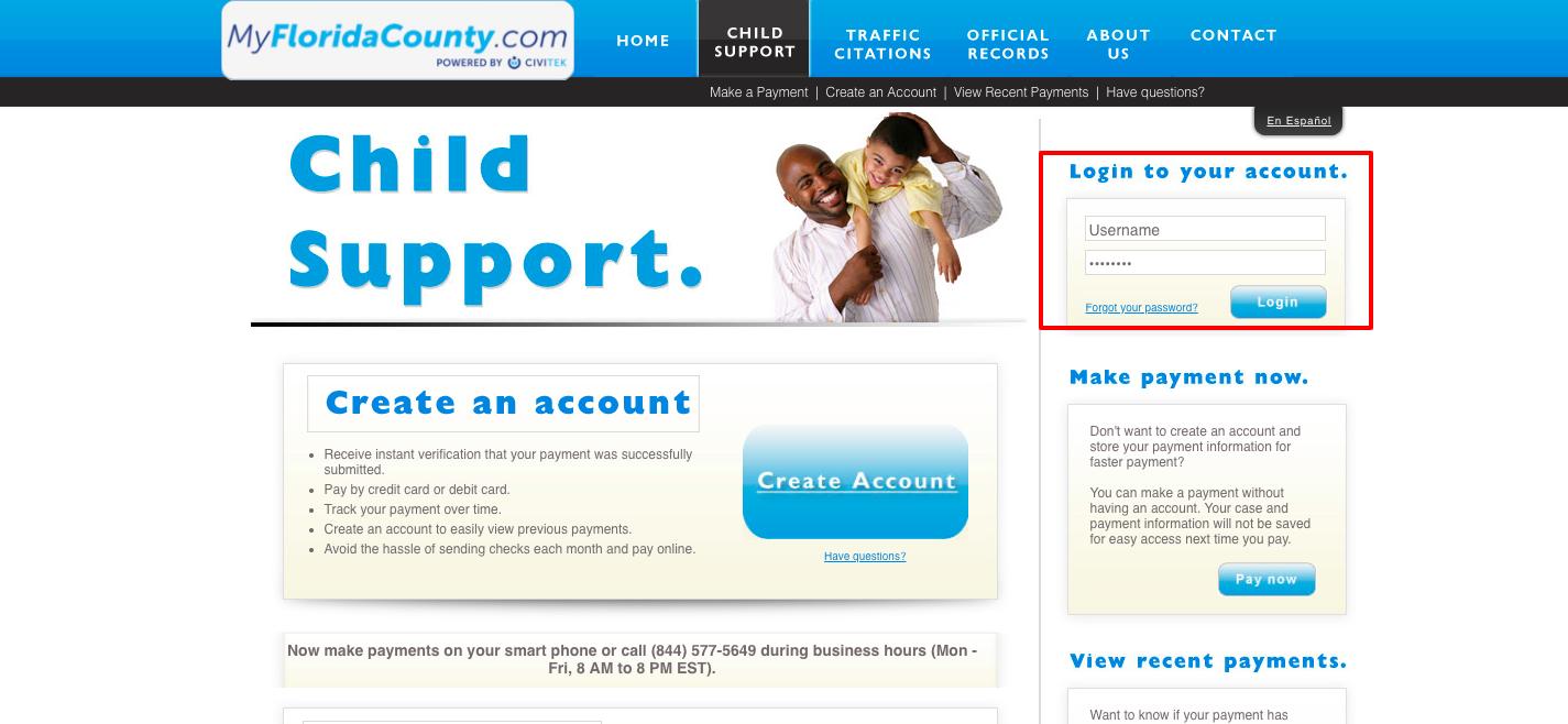 Child Support login