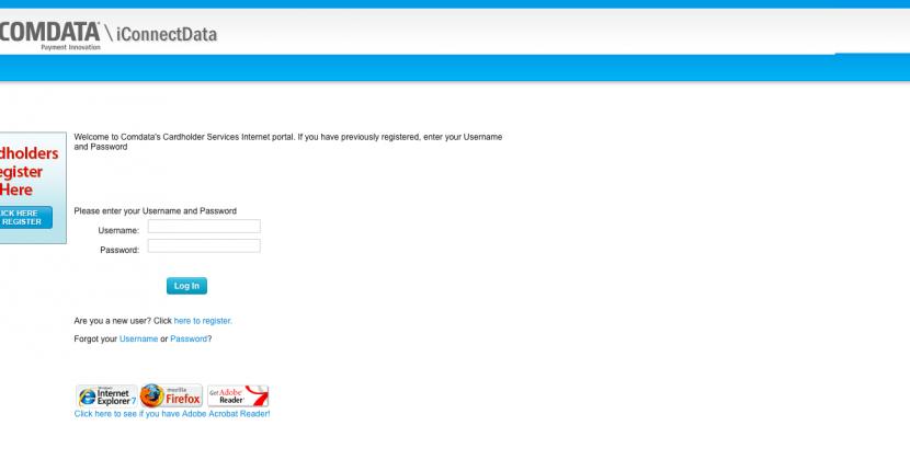 Comdata Cardholder Services Login