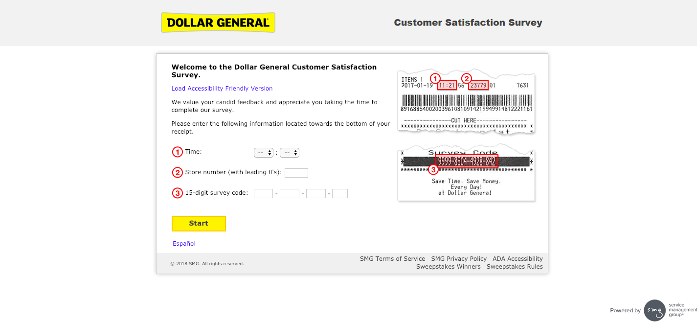 Dollar General Customer Satisfaction Survey Welcome