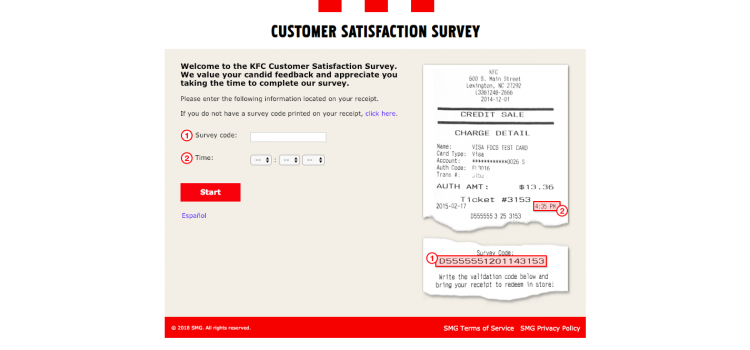 www.mykfcexperience.com – KFC Customer Survey