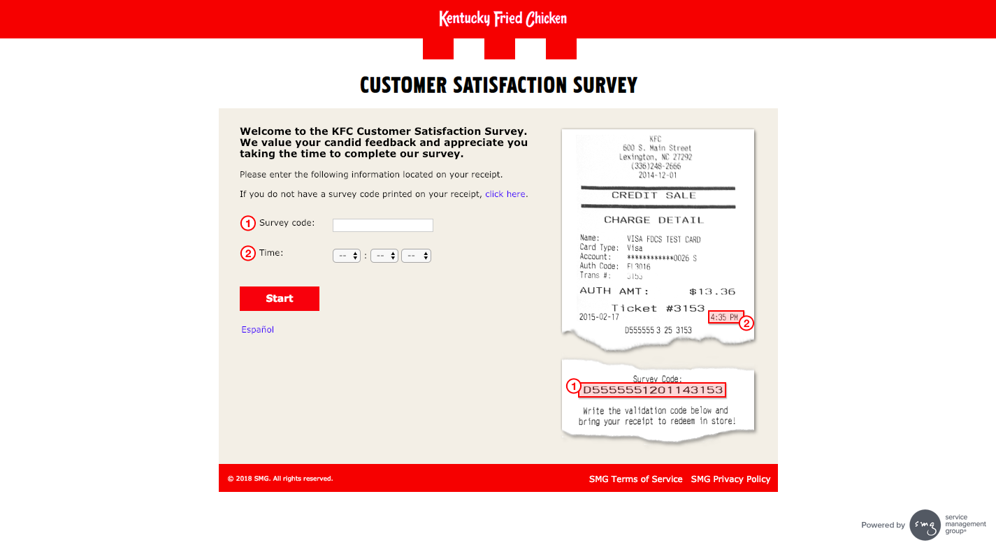 KFC Customer Satisfaction Survey Welcome