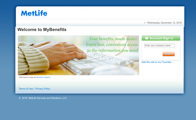 MyBenefits Common Access