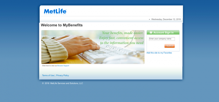 www.mybenefits.metlife.com -MetLife Benefits Login