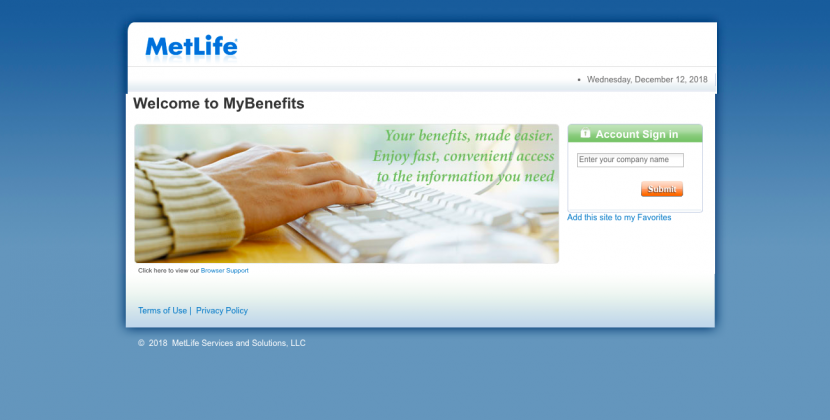 www.mybenefits.metlife.com -MetLife Benefits Login