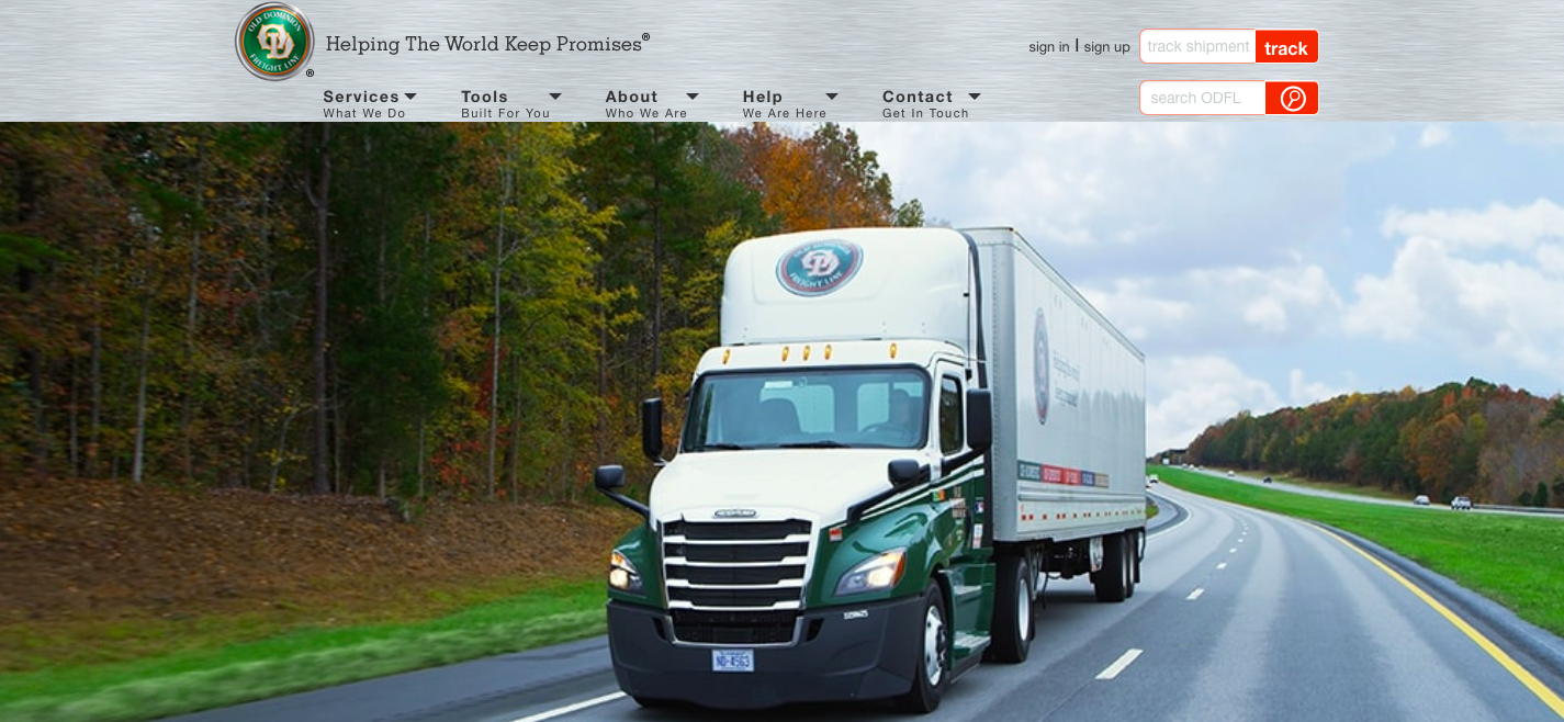 Old Dominion Freight Line Regional and National LTL Services