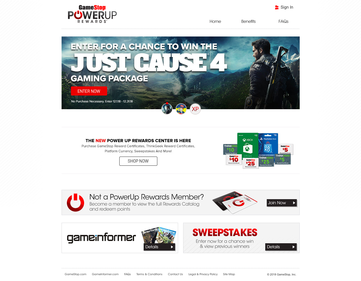 PowerUp Rewards Home Page