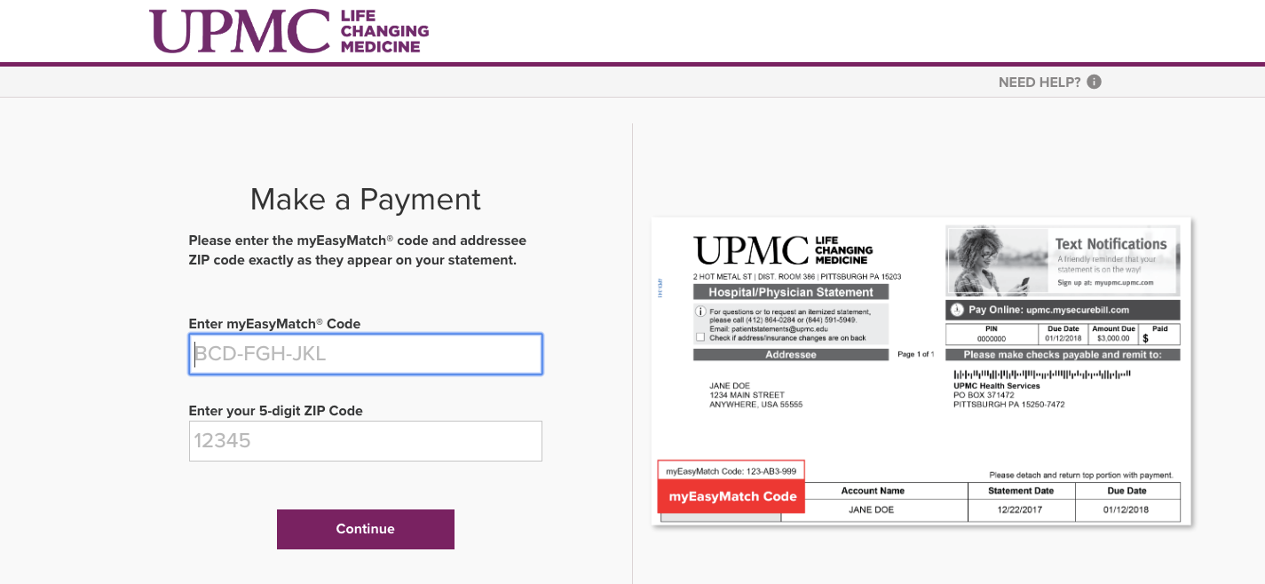 UPMC Health Services mySecurebill