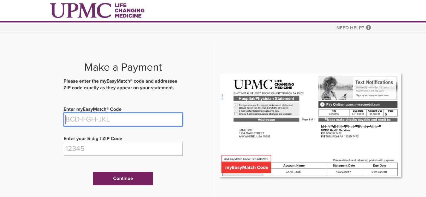 UPMC Health Services mySecurebill