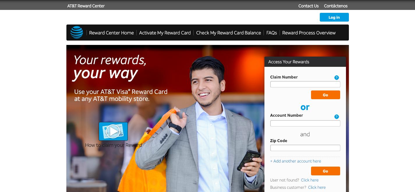 https rewardcenter att com home aspx