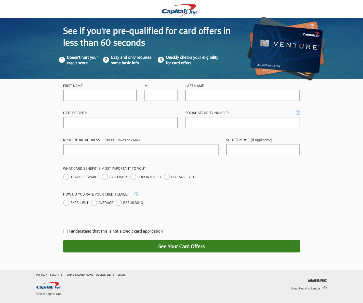 Get Pre qualified for Credit Card Offers Capital One