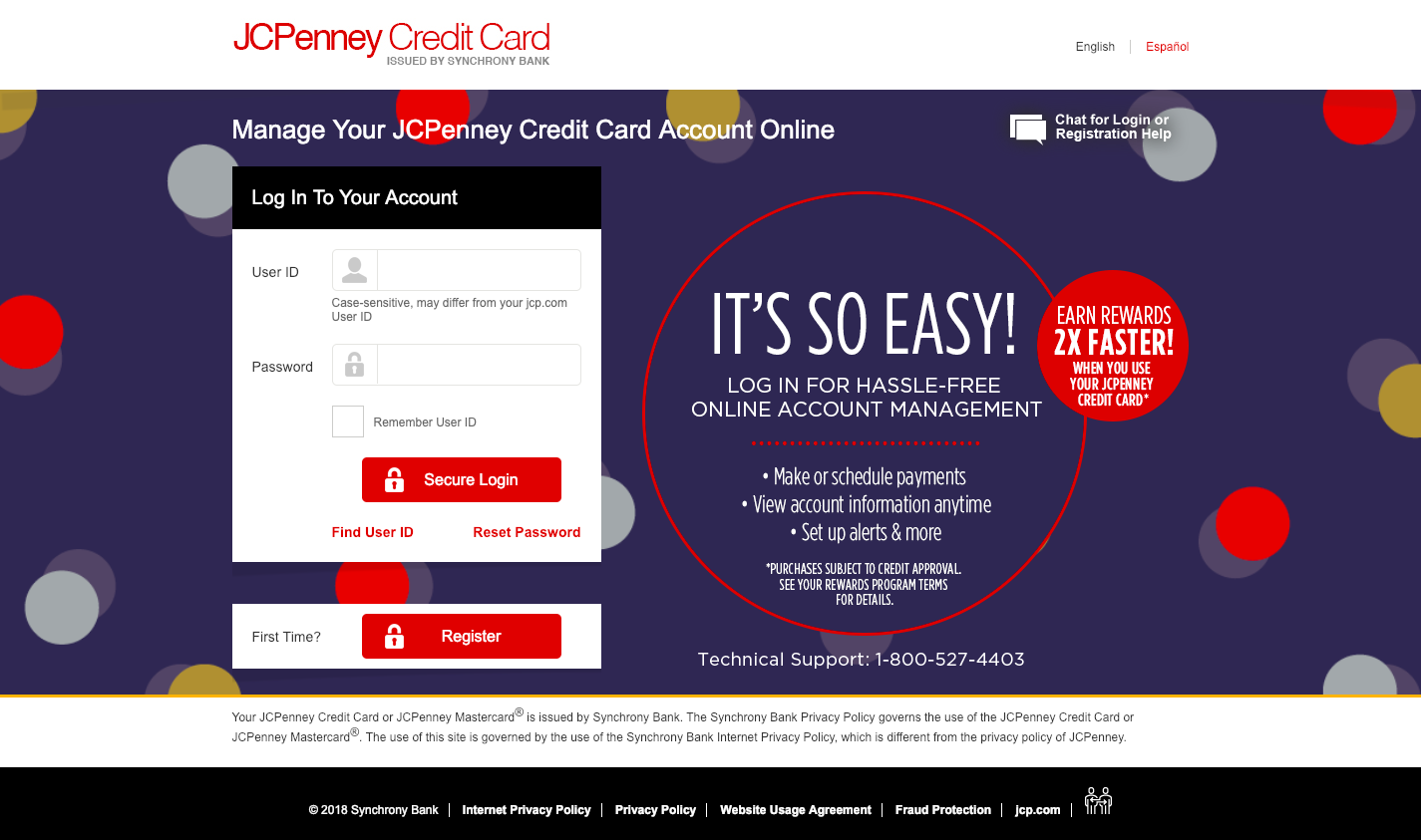 Manage Your JCPenney Credit Card Account