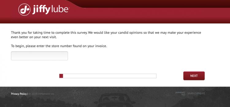 www.jiffyfeedback.com – Jiffy Lube Customer Feedback Survey