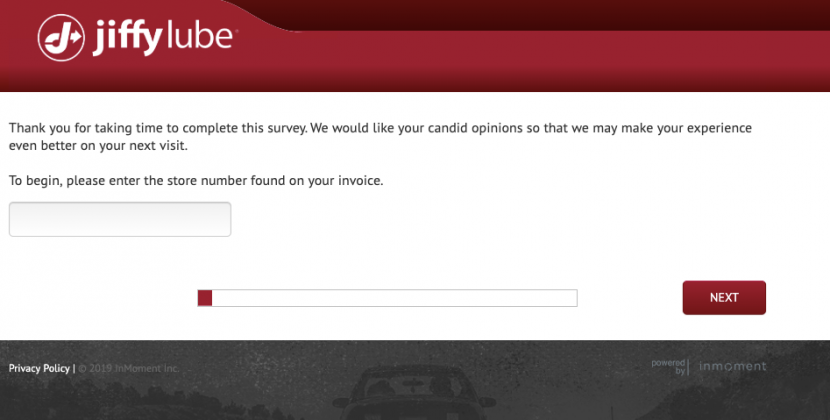 www.jiffyfeedback.com  – Jiffy Lube Customer Feedback Survey