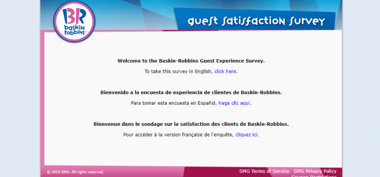 www.tellbaskinrobbins.com -Take Baskin-Robbins Guest Satisfaction Survey To Win Coupon Code