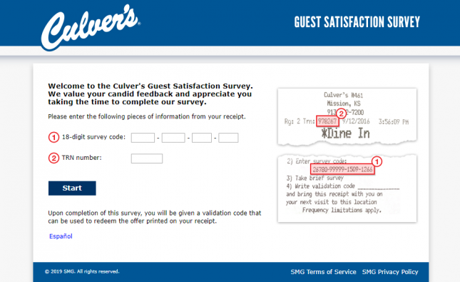 Culver s Guest Satisfaction Survey Welcome