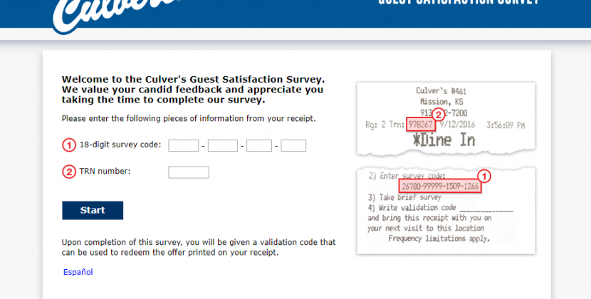 www.tellculvers.com – Take Culver's Guest Survey To Win Prizes