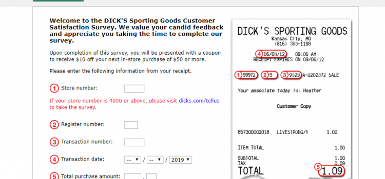 telldickssportinggoods.smg.com – Participate In The Dick's Sporting Goods Survey To Win $10 or $50 off in your purchase
