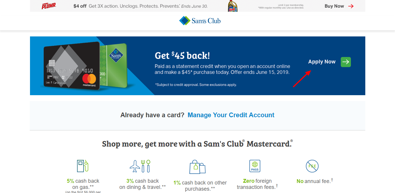 Sam s Club Credit