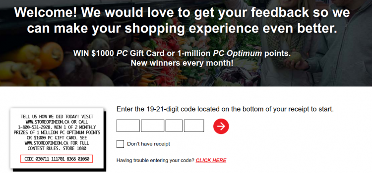 www.storeopinion.ca – Take Loblaws Grocery Survey To Win $1000 Gift Card