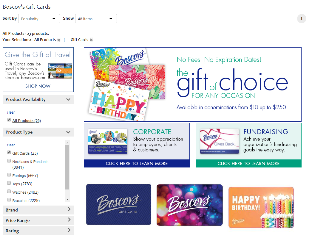 Boscov s Gift Cards Department Store Gift Cards Online