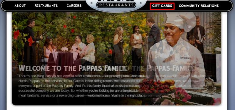 www.pappas.com – Check Pappas Restaurants Gift Card Balance