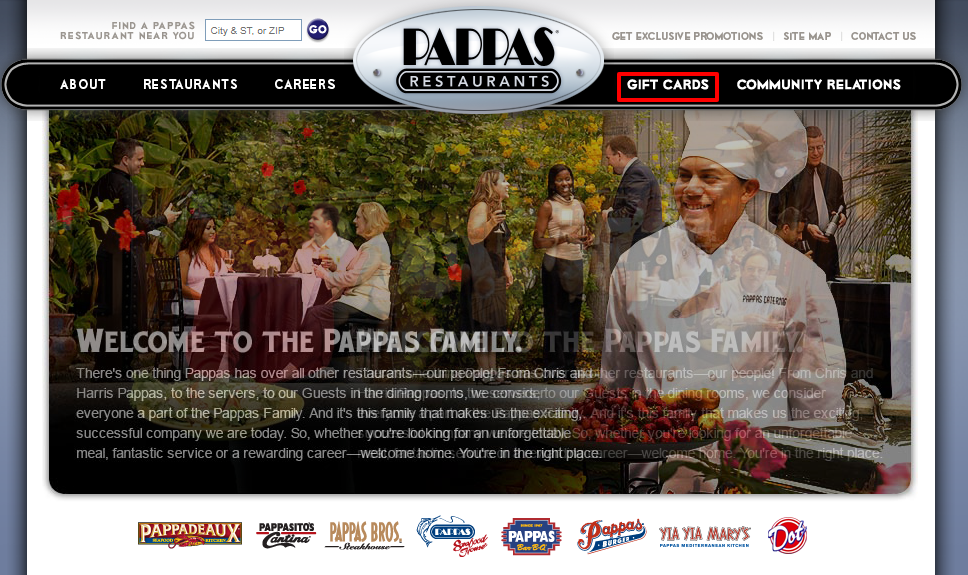Check Pappas Restaurants Gift Card Balance