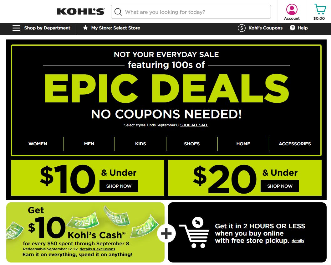 Check the Kohl's gift card balance