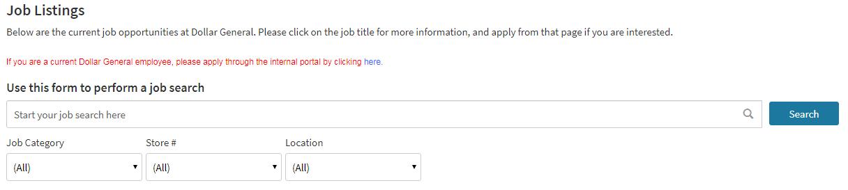 Dollar General Jobs Online apply