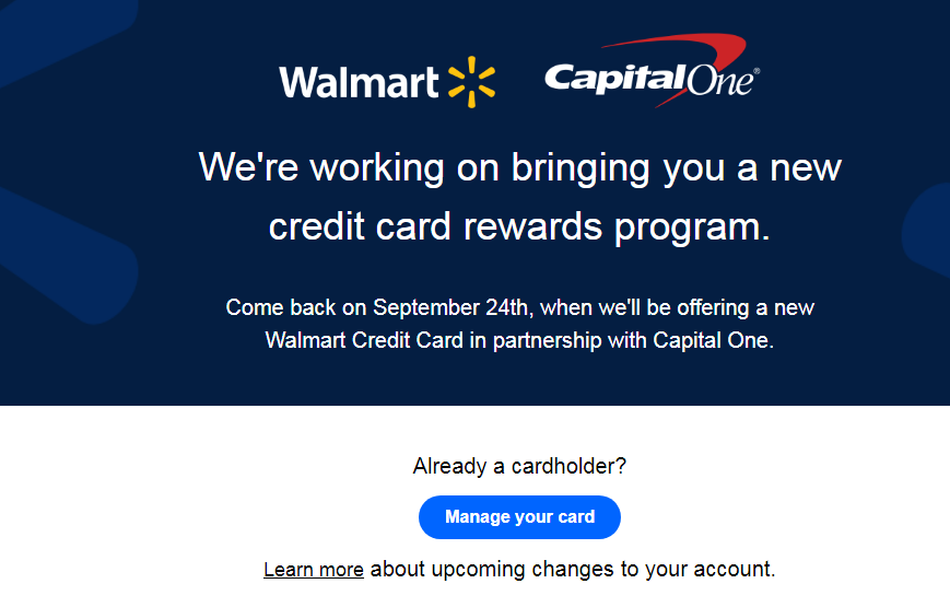 Manage Your Walmart Credit Card