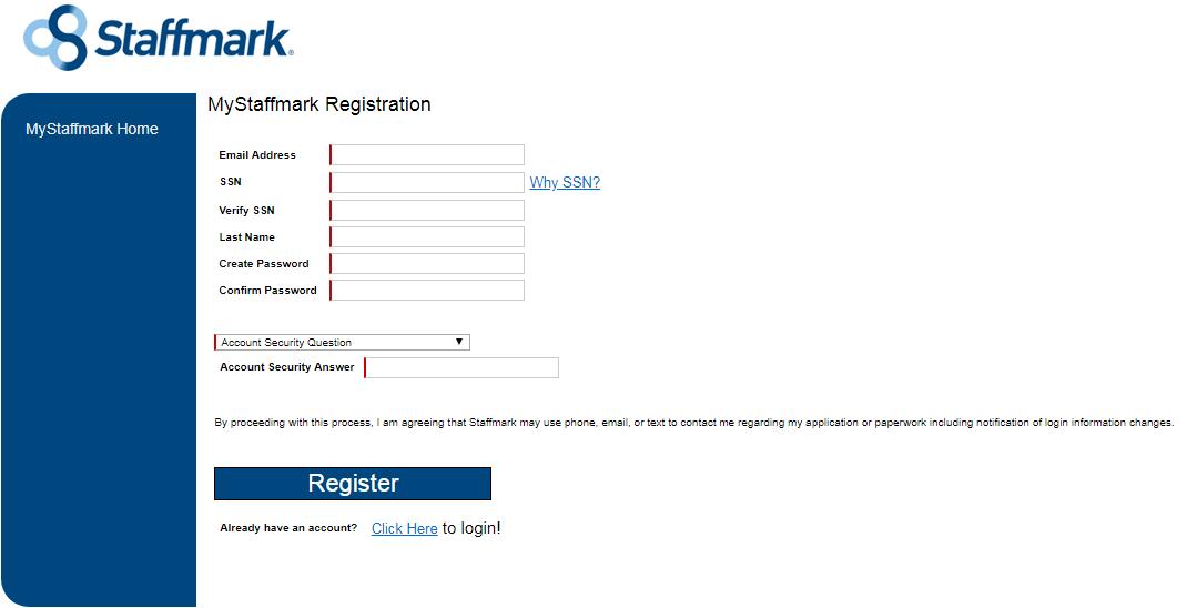 Staffmark Employees Portal For Job apply