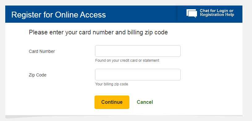 Walmart Credit Card Registration