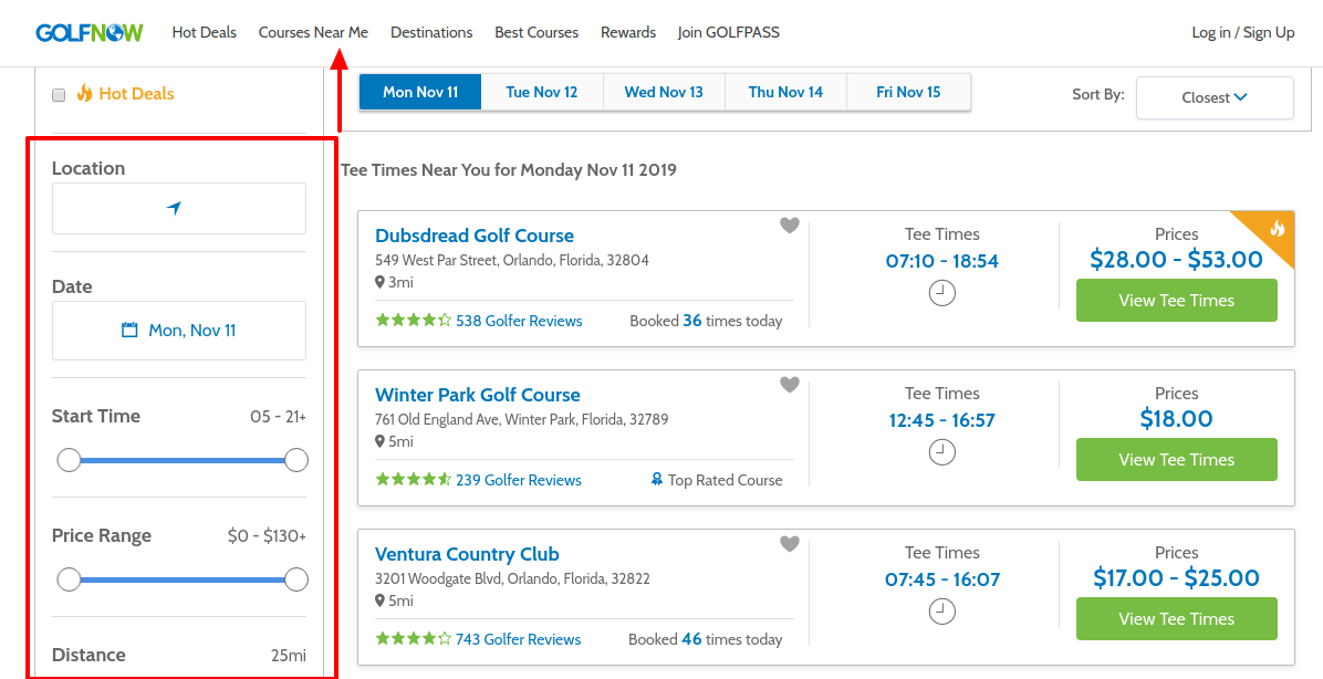 Golf Courses Near Me Save On Tee Times With GolfNow