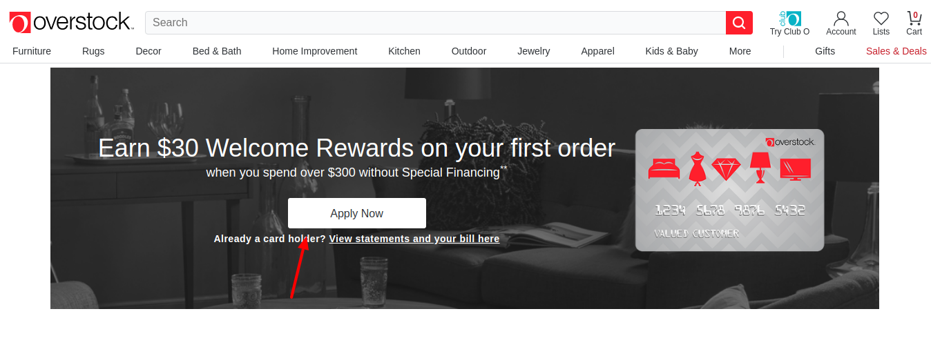 Overstock Store Credit Card Apply Now