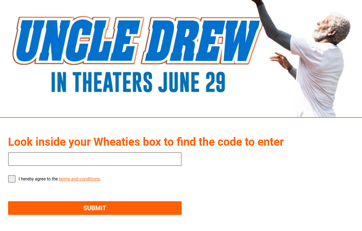 Uncle Drew  Wheaties