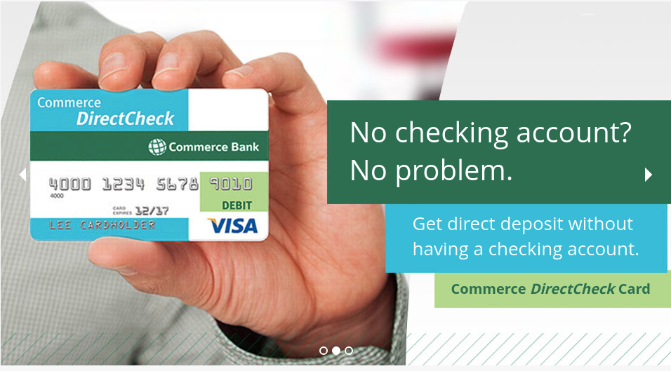 Commerce DirectCheck Card Logo