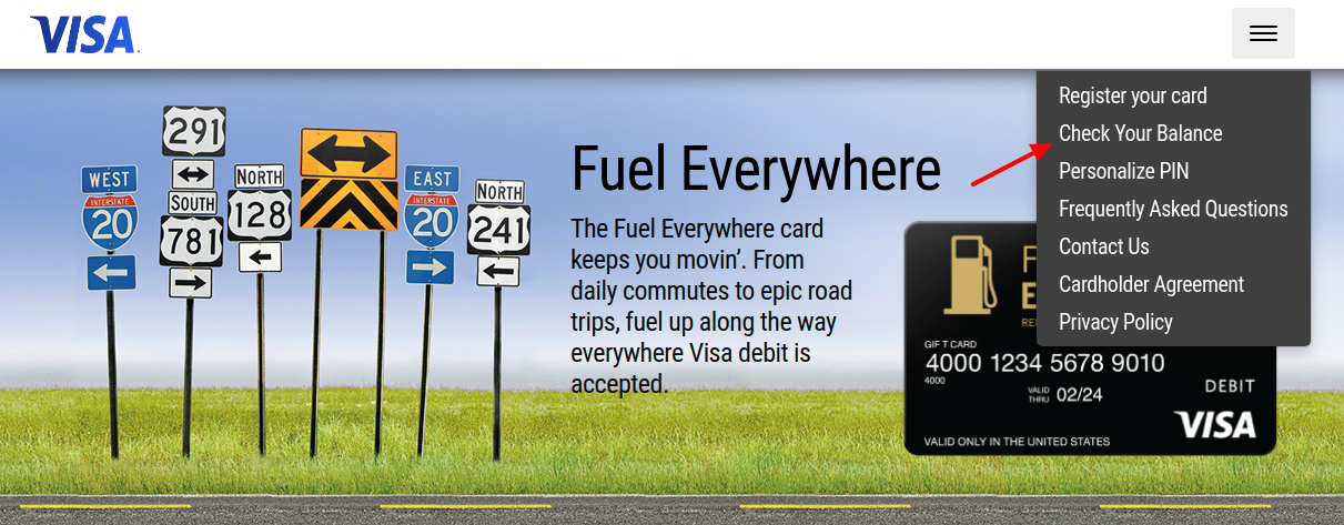 Fuel Everywhere Check Balance