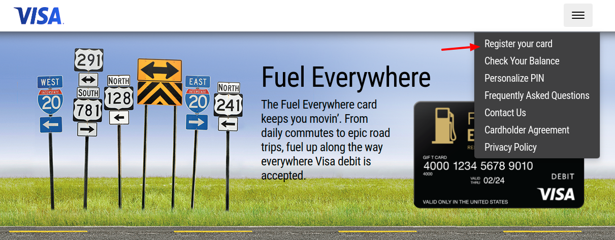 Fuel Everywhere Register Your Card