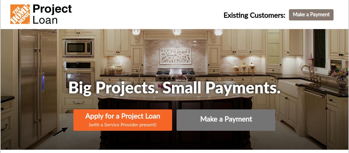 Home Depot Loan Apply